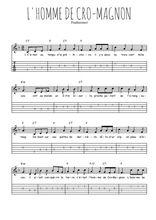 Téléchargez la tablature de la musique l-homme-de-cro-magnon en PDF
