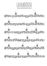Téléchargez la partition en Sib de la musique savoie-la-badoise en PDF