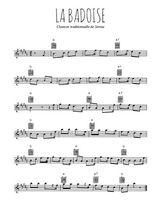 Téléchargez la partition pour saxophone en Mib de la musique savoie-la-badoise en PDF