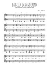 Téléchargez l'arrangement de la partition de Traditionnel-La-bella-lavanderina en PDF à deux voix
