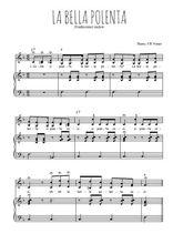 Téléchargez la partition de La bella polenta en PDF pour 2 voix égales et piano