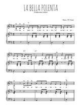 Téléchargez la partition de La bella polenta en PDF pour Chant et piano