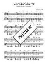 Téléchargez l'arrangement de la partition de Traditionnel-La-Bourbonnaise en PDF à deux voix