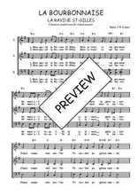 Téléchargez l'arrangement de la partition de Traditionnel-La-Bourbonnaise en PDF à trois voix