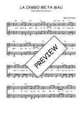 Téléchargez l'arrangement de la partition de Traditionnel-La-cambo-me-fa-mau en PDF à deux voix