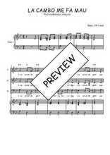 Téléchargez la partition de La cambo me fa mau en PDF pour 3 voix SAB et piano