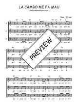 Téléchargez l'arrangement de la partition de Traditionnel-La-cambo-me-fa-mau en PDF à trois voix