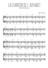 Téléchargez l'arrangement de la partition de Traditionnel-La-chanson-de-l-alphabet en PDF à deux voix