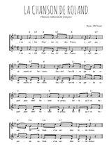 Téléchargez l'arrangement de la partition de Traditionnel-La-chanson-de-Roland en PDF à deux voix