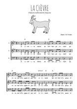 Téléchargez l'arrangement de la partition de Traditionnel-La-chevre en PDF à trois voix