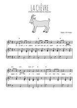 Téléchargez la partition de La chêvre en PDF pour Chant et piano