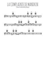Téléchargez la partition en Sib de la musique la-complainte-de-mandrin en PDF