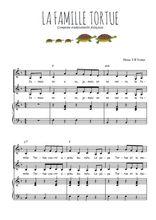 Téléchargez la partition de La famille tortue en PDF pour 2 voix égales et piano