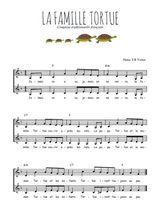 Téléchargez l'arrangement de la partition de comptine-la-famille-tortue en PDF à deux voix