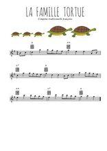 Téléchargez la partition en Sib de la musique comptine-la-famille-tortue en PDF
