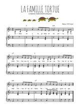 Téléchargez la partition de La famille tortue en PDF pour Chant et piano