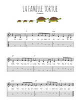 Téléchargez la tablature de la musique comptine-la-famille-tortue en PDF