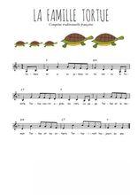 La partition gratuite de La famille tortue