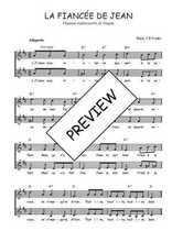 Téléchargez l'arrangement de la partition de Traditionnel-La-fiancee-de-Jean en PDF à deux voix