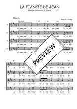 Téléchargez l'arrangement de la partition de Traditionnel-La-fiancee-de-Jean en PDF à quatre voix