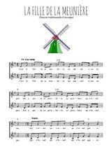 Téléchargez l'arrangement de la partition de Traditionnel-La-fille-de-la-meuniere en PDF à deux voix