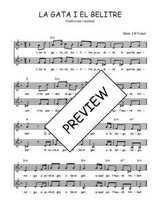 Téléchargez l'arrangement de la partition de Traditionnel-La-gata-i-el-belitre en PDF à deux voix