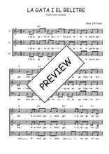 Téléchargez l'arrangement de la partition de Traditionnel-La-gata-i-el-belitre en PDF à trois voix