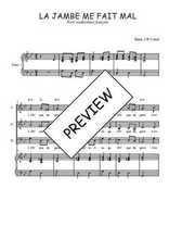 Téléchargez la partition de La jambe me fait mal en PDF pour 3 voix SAB et piano