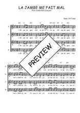 Téléchargez l'arrangement de la partition de Traditionnel-La-jambe-me-fait-mal en PDF à quatre voix
