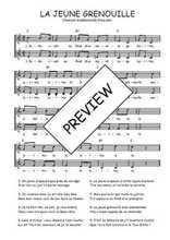Téléchargez l'arrangement de la partition de Traditionnel-La-jeune-grenouille en PDF à deux voix