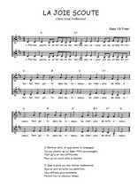Téléchargez l'arrangement de la partition de Traditionnel-La-joie-scoute en PDF à deux voix