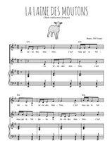Téléchargez la partition de La laine des moutons en PDF pour 2 voix égales et piano