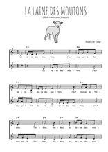 Téléchargez l'arrangement de la partition de la-laine-des-moutons en PDF à deux voix