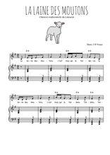 Téléchargez la partition de La laine des moutons en PDF pour Chant et piano