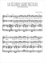 Téléchargez la partition de La légende de Saint Nicolas en PDF pour 2 voix égales et piano