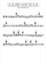 Téléchargez la partition en Sib de la musique noel-la-legende-de-saint-nicolas en PDF