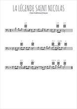 Téléchargez la partition de noel-la-legende-de-saint-nicolas en clef de fa