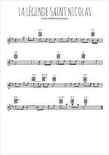 Téléchargez la partition pour saxophone en Mib de la musique noel-la-legende-de-saint-nicolas en PDF