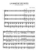 Téléchargez la partition de La marche des rois en PDF pour 3 voix SAB et piano
