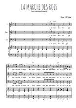 Téléchargez la partition de La marche des rois en PDF pour 3 voix TTB et piano