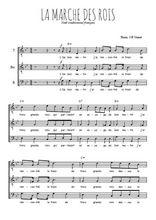 Téléchargez l'arrangement de la partition de noel-la-marche-des-rois en PDF pour trois voix d'hommes