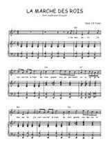 Téléchargez la partition de La marche des rois en PDF pour Chant et piano