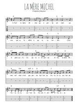 Téléchargez la tablature de la musique Traditionnel-La-mere-Michel en PDF