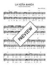 Téléchargez l'arrangement de la partition de Traditionnel-La-nina-Maria en PDF à deux voix