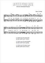 Téléchargez l'arrangement de la partition de Traditionnel-La-petite-poule-grise en PDF à deux voix