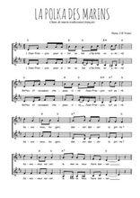 Téléchargez l'arrangement de la partition de Traditionnel-La-polka-des-marins en PDF à deux voix