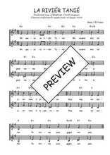 Téléchargez l'arrangement de la partition de Traditionnel-La-rivier-Tanie en PDF à deux voix