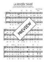 Téléchargez l'arrangement de la partition de Traditionnel-La-rivier-Tanie en PDF à trois voix