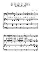 Téléchargez la partition de La ronde de Biron en PDF pour 2 voix égales et piano