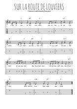 Téléchargez la tablature de la musique sur-la-route-de-louviers en PDF